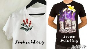 Read more about the article Embroidery VS Screen Printing – Which is Better? [2021 Guide]