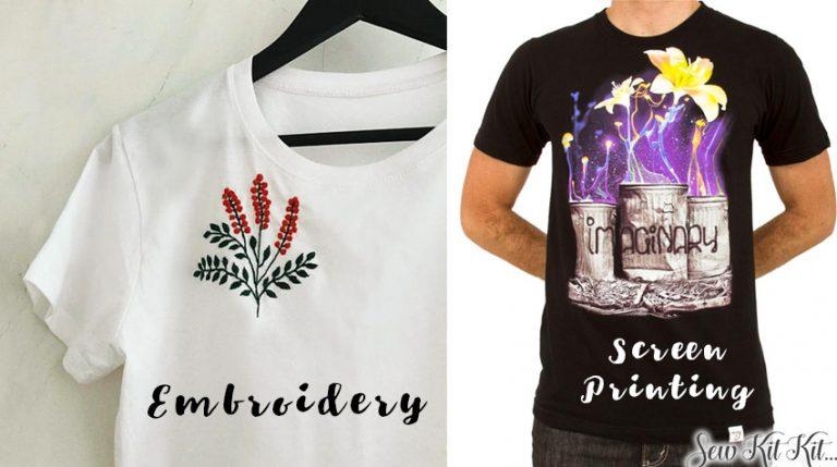 Embroidery Versus Screen Printing