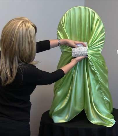 use large rhinestone drape clips