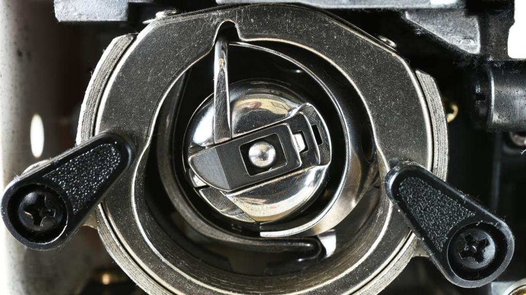 A close-up photo of the bobbin