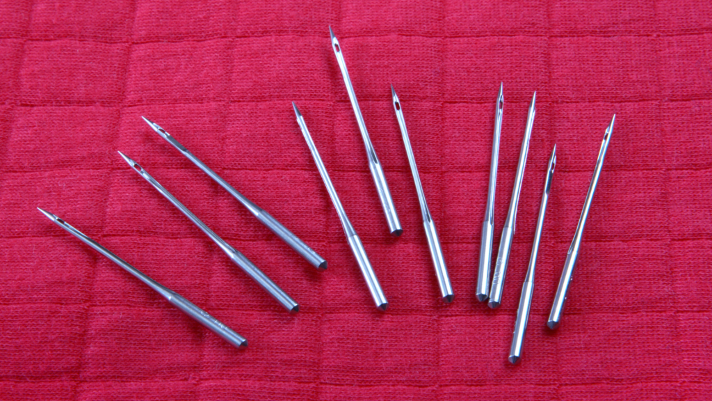 Types of sewing machine needles banner