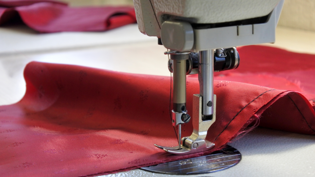 Photo of a sewing machine in operation