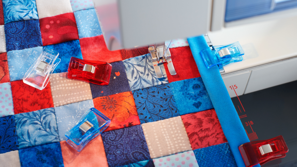 How to quilt with a sewing machine for beginners banner