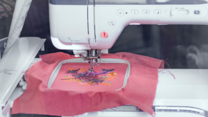 How to embroider letters with sewing machine banner