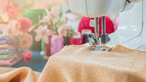 What is a low shank sewing machine banner